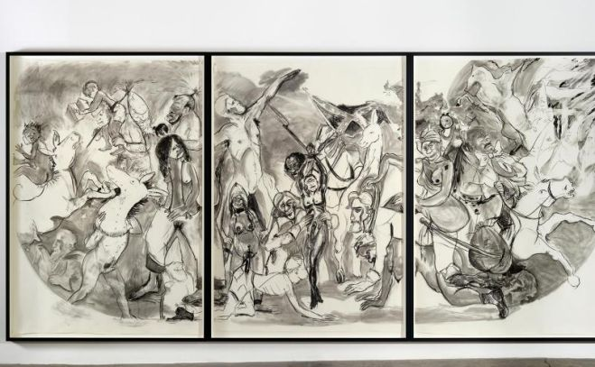 """40 Acres of Mules"" (2015) von Kara Walker. Das New Yorker Museum of Modern Art (MoMA) hat seine Sammlung um zahlreiche politisch inspirierte Kunstwerke erweitert. Foto: MoMA New York"